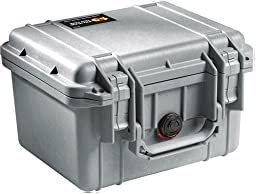 Pelican 1300 Case with Foam for Camera  - Silver