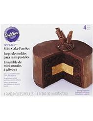 Wilton Tasty-Fill Mini Cake Pans Set, 4-Piece