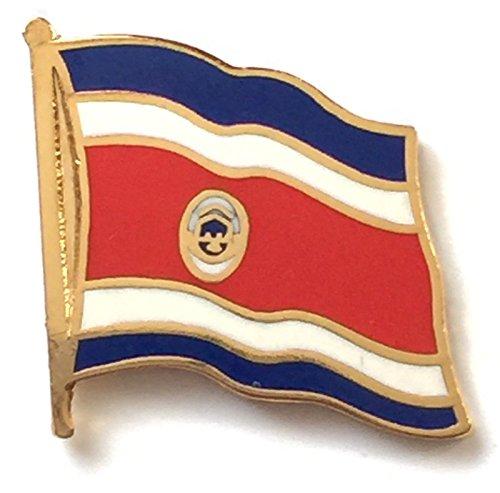 Costa Rica Drapeau national plaqué or avec Pin's (épinglette Badge en émail