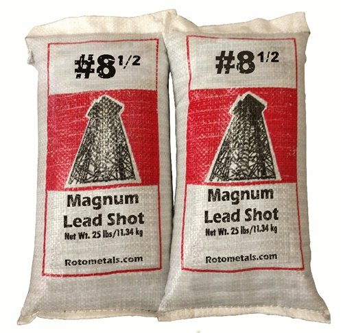 Magnum Lead Shot #8.5 50 pounds 2-25 Pound Bags ... by Roto Metals