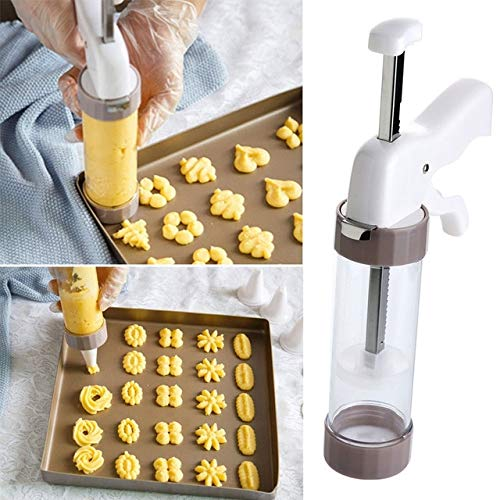 Cookie Press Kit - Cookie Press Making Gun Biscuits Cake Mold Cookie Press Maker Machine Dessert Decoration by PerfectPrice (Image #5)