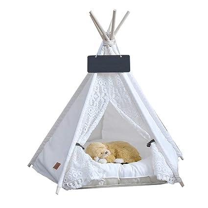 Ryan Teepee para Mascotas, Perro Cachorro, Cama para Gato, Portátil, Tiendas De