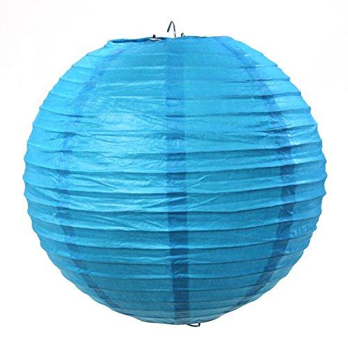 Koyal Wholesale Paper Lantern, 18-Inch, Turquoise Blue (Lanterns Cheap Bulk Paper)