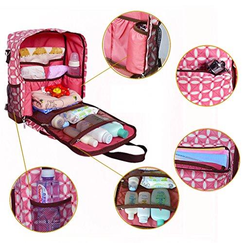 Multifuncional pañales bolso cambiador rojo Style 35 Red Style 1 Pink