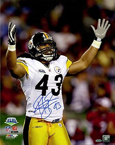 Troy Polamalu Signed 16x20 Photo Pittsburgh Steelers Steiner (Troy Polamalu Hand Signed)