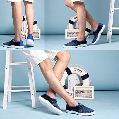 Chaussures Baskets Sport Sneakers Homme Réspirant Bleu de Mode Casual Fitness Mesh Chaussures BAINASIQI U5Px4qnO