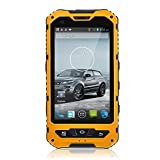 Sudroid A8 Smartphone IP68 Waterproof Android 4.4.2 3000mAh Supporting NFC Yellow