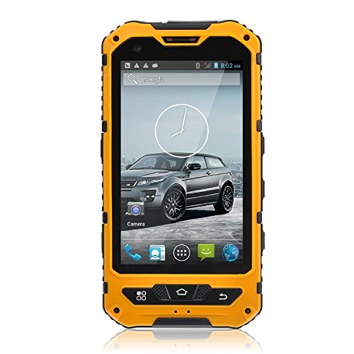 Sudroid A8 Smartphone IP68 Waterproof Android 4.4.2 3000mAh Supporting NFC Yellow by Sudroid
