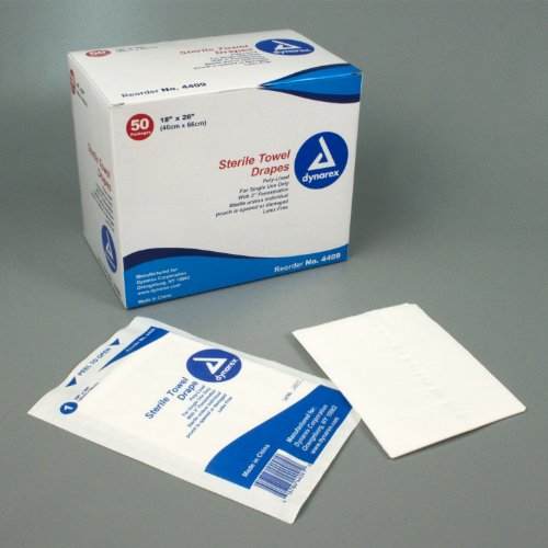Disposable Towel Drape - Sterile - Fenestrated - Box of 50 by Dynarex