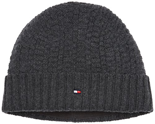 Charcoal Gris Structured Beanie 004 de Knit Hombre Htr Punto Gorro para Hilfiger Tommy vHzxAwv