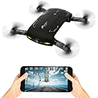 Wifi Foldable RC Drone 0.3MP HD Camera FPV Helicopter Four-Axis Altitude Hold and App Voice Remote Control Quadcopte Pocket Aircraft