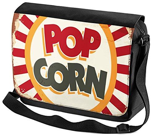 Umhänge Schulter Tasche Retro Popcorn bedruckt