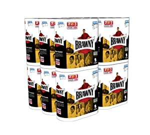 Brawny Giant Roll Paper Towel, Pick-A-Size, White, 24 Count (3 Packs of 8)