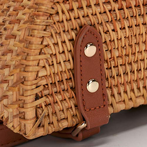 Women's Bag, Fashion Bag - Summer Women's Bag - Hand-Woven Rattan Bag - Crossbody Beach Bag by BHM (Image #4)