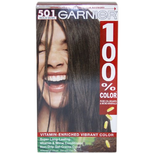 Garnier 100% Color Intense Gel-Creme Color, Permanent, Mediu