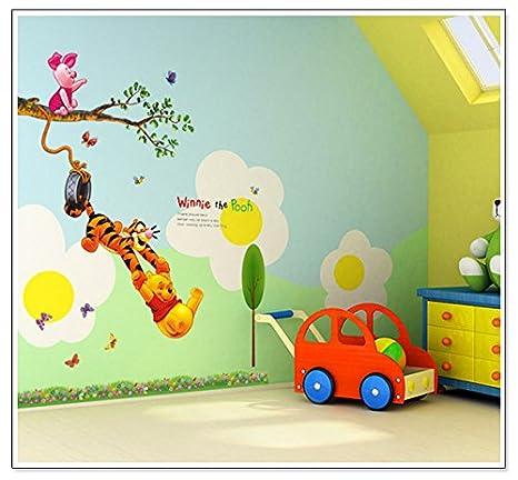 XM Art, Motiv: Disney Winnie the Pooh Baum Kinderzimmer Wandtattoo für  Kinderzimmer, A0054TX XMK