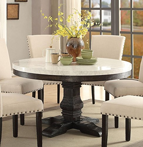 Buy white marble dining table set for 6