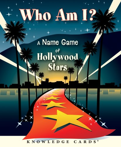Who Am I? A Name Game of Hollywood Stars Knowledge Cards Deck
