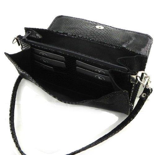 pitón 'Frandi'negro Bolso veces de de cuero bolsa de la 2 F7Hv0q