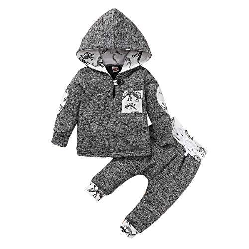 BigBig Style Baby Peuter Jongen Outfits Kleding Hooded Shirt Broek Mode Set