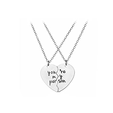 Amazon com: Broken heart Letter Necklace