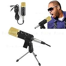 USB Condenser Microphone, FOME Pro Professional Condenser Vocal Recording Microphone BM-100FL with Mic Shock Mount Anti-wind Foam Cap For Radio Broadcasting Studio Voice-over Sound Studio Recording