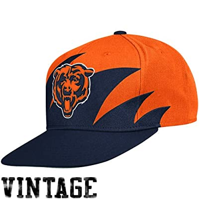 NFL Mitchell & Ness Chicago Bears Navy Blue-Orange NFL Sharktooth Snapback Adjustable Hat from Mitchell & Ness