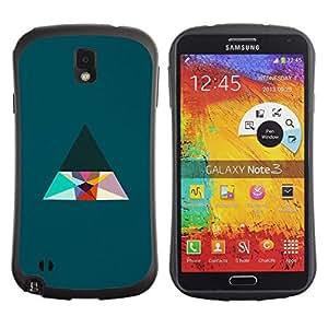 "Hypernova Slim Fit Dual Barniz Protector Caso Case Funda Para Samsung Note 3 [Triángulo minimalista Limpio Estética""]"