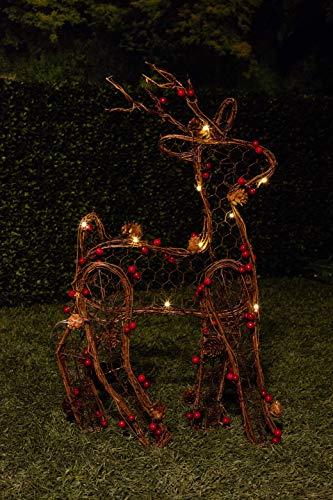 Outdoor Christmas Light Up Reindeer in US - 5