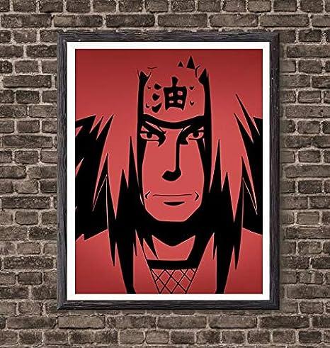 Naruto Master of Ninja Legend Gama Jiraiya Manga Anime Canvas Art Print,8 x 10 Inches,No Frame
