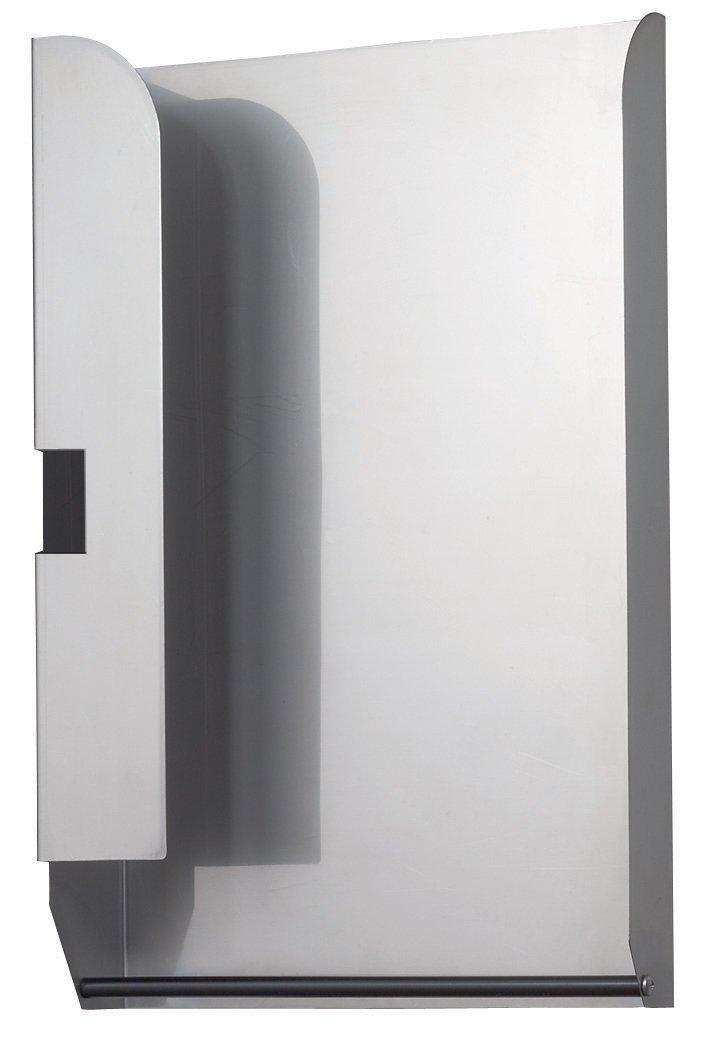 "Bobrick 3944-130 304 Stainless Steel Optional TowelMate, 2B Finish, 10-9/16"" Width x 16"" Height x 3-5/8"" Depth, For 4"" Deep Paper Towel Dispenser"