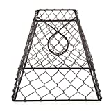 Darice Clip-On Chicken Wire Lamp Shade: Square, Black, 8 x 8 inches