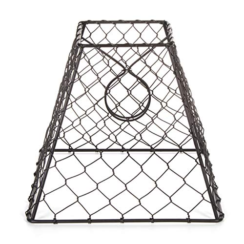 Darice Clip-On Chicken Wire Lamp Shade: Square, Black, 8 x 8 - Lamp Base Jar