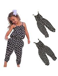 Goodlock Toddler Kids Fashion Jumpsuit Baby Girls Summer Strap Romper Jumpsuit Harem Pants Clothes Outfits White