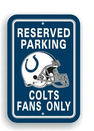- Indianapolis Colts 12 x 18 Parking Sign