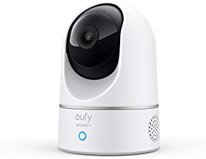 eufy Security 2K Indoor Cam Pan & Tilt, Plug-in Security Indoor Camera with Wi-Fi, Human & Pet AI, Voice Assistant Compatibility, Motion Tracking, HomeBase Not Required