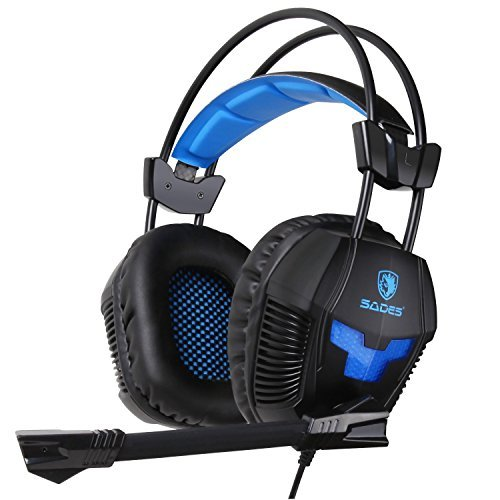 Sades SA921 Multifunction Universal Gaming Headset with Mic (Black)