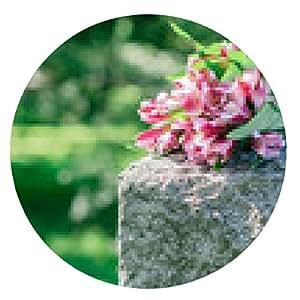 alfombrilla de ratón Lápida en el cementerio - ronda - 20cm