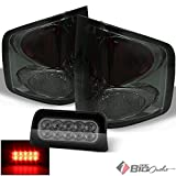 For 1994-2004 Chevy S10/GMC Sonoma, 1996-2000 Isuzu Hombre Smoked Altezza Tail Lights + Full LED 3rd Brake Light Combo