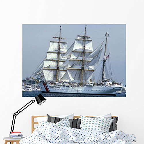 Uscgc Eagle 295-foot Barque Wall Mural by Wallmonkeys Peel and Stick Graphic (60 in W x 42 in H) WM151282 ()