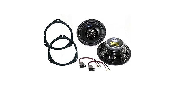 Sound Way - Kit de altavoces para Fiat Grande Punto/Punto Evo (2 vías, 120 W, 16,5 cm, para puertas delanteras): Amazon.es: Electrónica