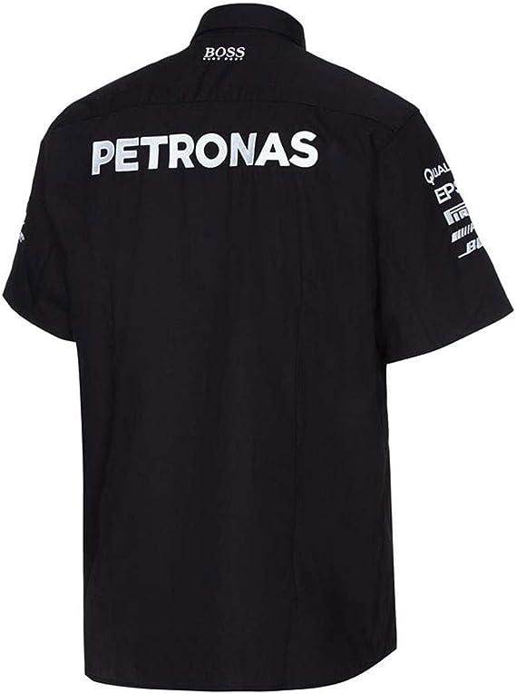 Mercedes AMG Petronas BLK Equipo Camiseta, Negro: Amazon.es ...
