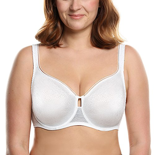 Ultimate Minimizer (Ekouaer Women's Full Cup Unlined Minimizer Underwire Bra(White,40DD))