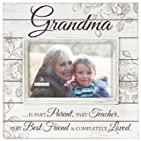 Malden International Designs Sun Washed Woods Grandma Cream Distressed Picture Frame, 4 by 6-Inch