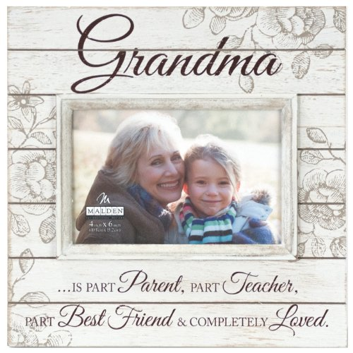 Sun Washed Words Grandma Cream Distressed Picture Frame, 4x6