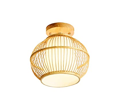 Luz de techo de bambú, pasillo Luces del pasillo Nuevo ...
