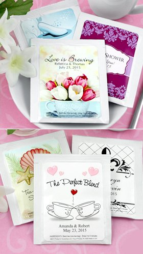 Personalized Tea Favors - Set of 30 (Wedding) -