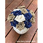 Burlap-Flowers-with-Stem-6-white-6-natural-12-total-Burlap-Rose-Flowers-with-Stem-Wedding-Decor-Flowers-Rustic-Bouquet-with-Wooden-Stems