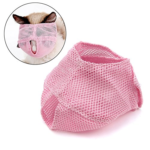 Alfie Pet by Petoga Couture - Hudson Quick Fit Muzzle for Cat - Color: Pink, Size: Small