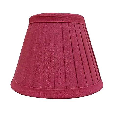 écran de lampe de coton Couleur FRAISE table étroite Better & Best 0200309 de 30cm